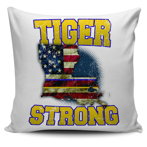 "Tiger Strong 18"" Pillow Cover - Love Family & Home"