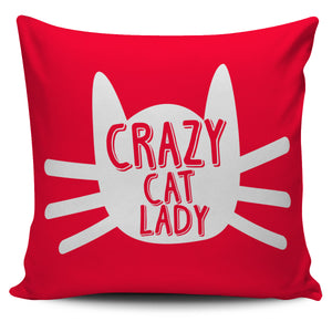 "Crazy Cat Lady 18"" Pillow Cover - Love Family & Home"