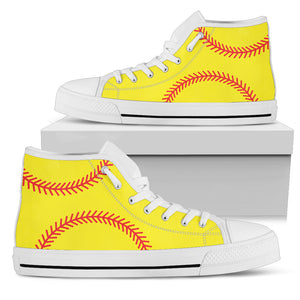 Softball Print Ladies High Top - Love Family & Home