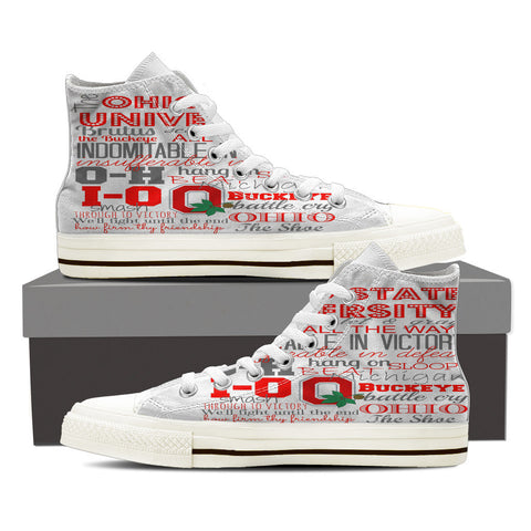 Buckeye Sayings Women's Canvas High Top Shoes - Love Family & Home