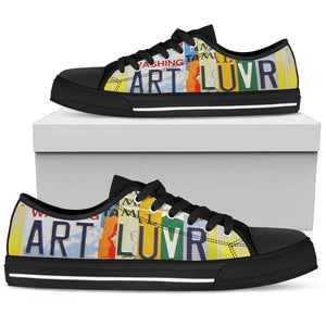 Art Lover Print Women's Low Top Shoes - Love Family & Home