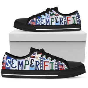 Semper Fi Always Faithful Men's Low Top Shoes - Love Family & Home
