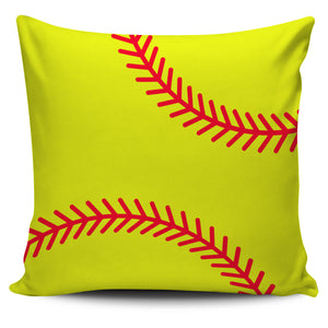 "Softball 18"" Pillow Case - Love Family & Home"