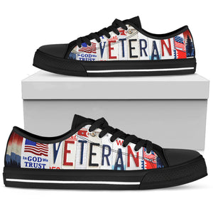 Veteran Low Top Shoes - Love Family & Home