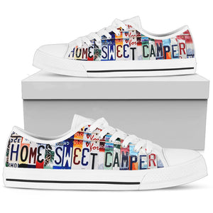 Home Sweet Camper Low Top Shoes - Love Family & Home