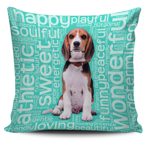 "Blue Beagle Dog 18"" Pillow Covers"