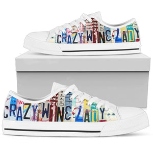 Crazy Wine Lady Low Top Shoes - Love Family & Home