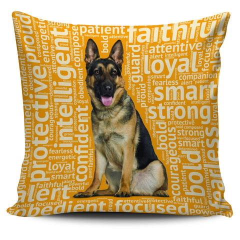 Image of German Shepherd 18 Pillowcase - Love Family & Home
