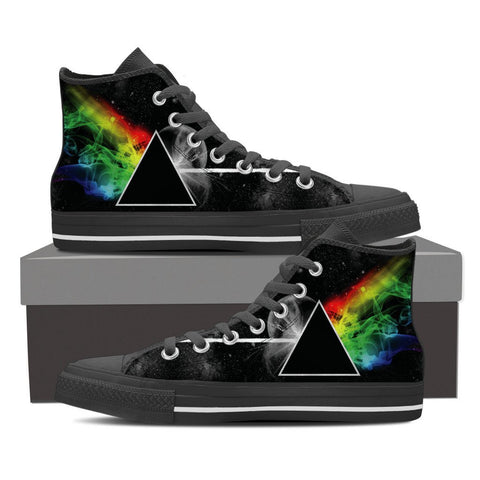 Image of Classic Prism Ladies Canvas High Tops Dark Side Of The Moon - Love Family & Home