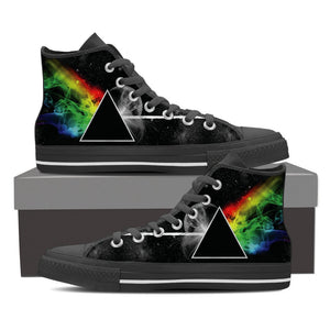 Classic Prism Ladies Canvas High Tops Dark Side Of The Moon - Love Family & Home