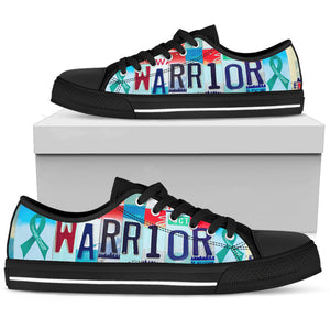 Ovarian Warrior Low Top Shoes - Love Family & Home