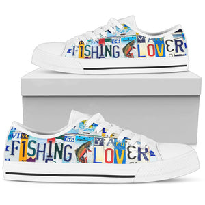 Fishing Lover Low Top - Love Family & Home