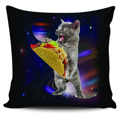 Taco Cat In Space Pillow Case - 18 Inch