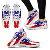 Ladies Running Shoes USA Flag - Spicy Prints