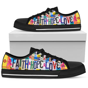 Faith Hope Love Low Top Shoes - Love Family & Home