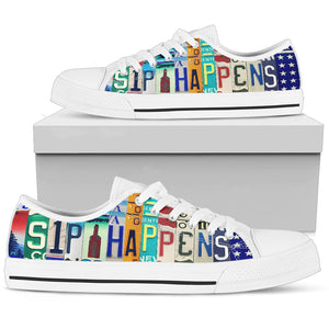 Sip Happens Low Top Shoes - Love Family & Home