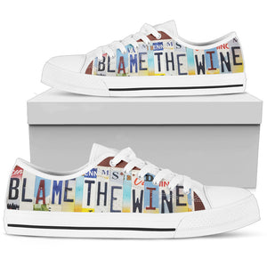 Blame The Wine Low Top Shoes - Love Family & Home