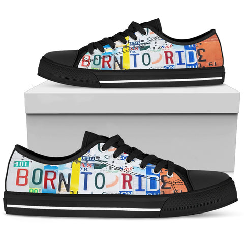 Born To Ride Low Top Shoes - Love Family & Home
