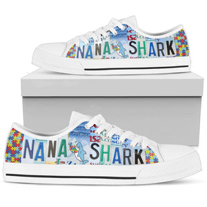 Nana Shark Low Top Shoes - Love Family & Home