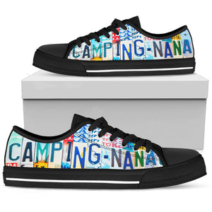 Camping Nana Low Top Shoes - Love Family & Home