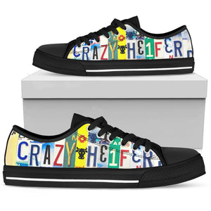 Crazy Heifer Low Top Shoes - Love Family & Home