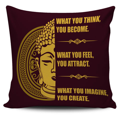 "Image of Buddha Mind Body 18"" Pillow Cover - Love Family & Home"