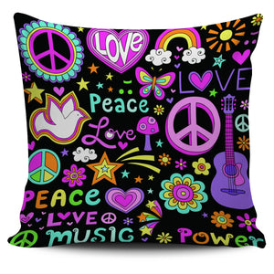 Peace Love Music Pillow Case - Love Family & Home