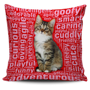 "Cute Kitten 18"" Pillow Covers - Love Family & Home"