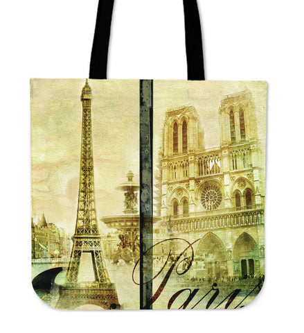 "Paris France Style 16"" Tote Bag - Royal Crown Pro"