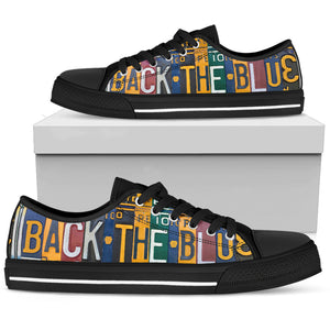 Back The Blue Police Low Top - Love Family & Home