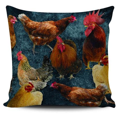 "Chicken Print 18""Pillow Cover - Love Family & Home"