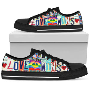 Love Wins Low Top - Love Family & Home