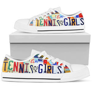 Tennis Girl Low Top Shoes - Love Family & Home