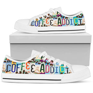 Coffee Addict Low Top - Love Family & Home