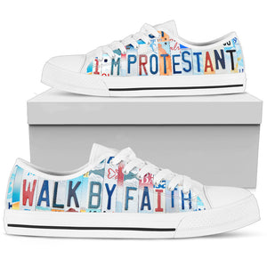 I'm Protestant Low Top Shoes - Love Family & Home