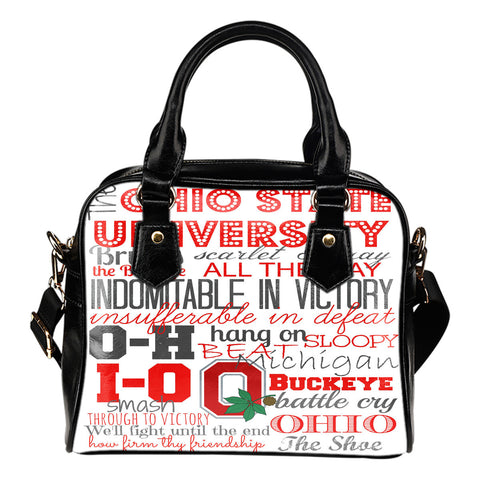 Image of Buckeye Sayings Shoulder Handbag - Love Family & Home