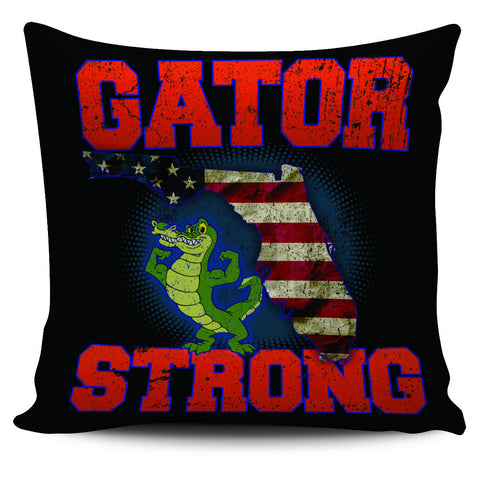"Image of Gator Strong 18"" Pillow Cover - Love Family & Home"