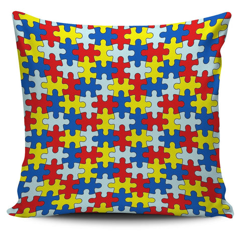 "Autism Awareness 18"" Pillow Cover - Love Family & Home"