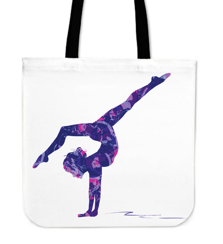 Image of Gymnastics Abstract Silhouette Tote Bag - Love Family & Home