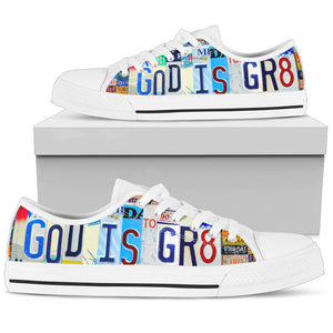 God Is Gr8 Low Top Shoes - Love Family & Home