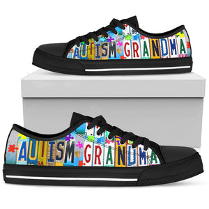 Autism Grandma Low Top Shoes - Love Family & Home
