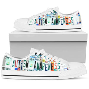 Autism Awareness Women's  Low Top Shoes - Love Family & Home