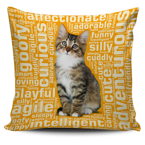 "Image of Cute Kitten 18"" Pillow Covers - Love Family & Home"