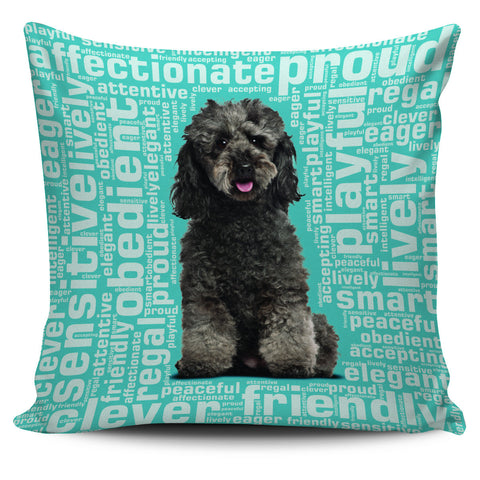 "Poodle 18"" Pillow Cover"