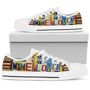 Wine Lover Low Top Shoes - Love Family & Home