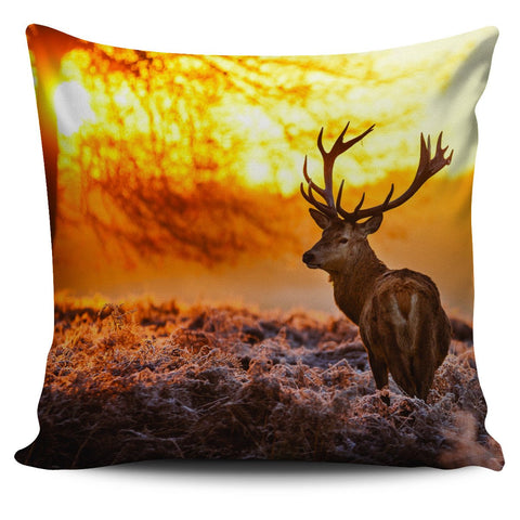 "Image of Deer Print 18"" Pillow Cover - Love Family & Home"