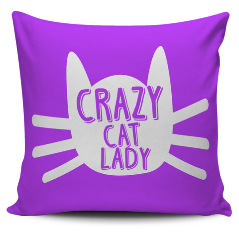 "Image of Crazy Cat Lady 18"" Pillow Cover - Love Family & Home"