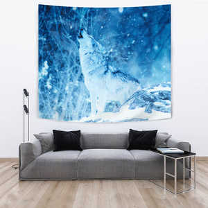 TAPESTRY WOLF IN WINTER - Love Family & Home