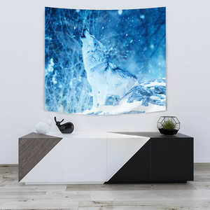 Image of TAPESTRY WOLF IN WINTER - Love Family & Home
