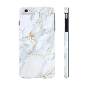 iPhone 11 Case Mate Tough Phone Case, White Marble Phone Case - Love Family & Home
